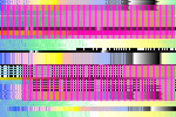 vector background. Digital glitch. pixels, broken