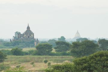 Epic image of mystical temples in Bagan, Burma