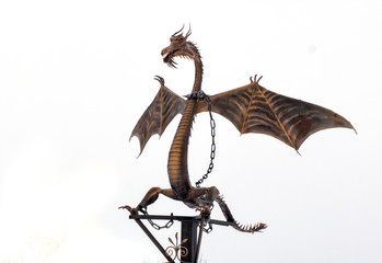 Forged Products dragon on white background