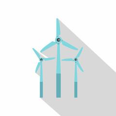 Windmill icon, flat style