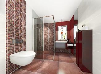 klein modern Bad Badezimmer Duschbad Minibad