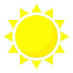 Summer sun icon, cartoon style
