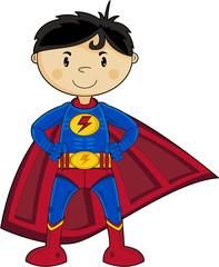 Cute Cartoon Comic Book Superhero
