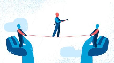 Acrobati e fiducia reciproca
