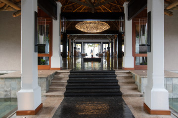 Hall d'hôtel de luxe à l'Île Maurice