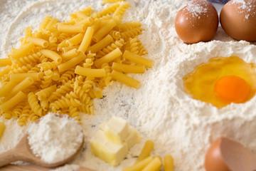 Recipe for homemade pasta.