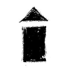 grunge house icon, design element