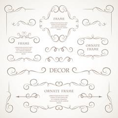 Vector set of decorative elements.