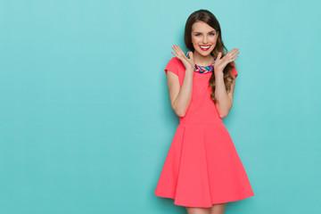 Smiling Vibrant Fashion Girl