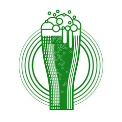 Saint Patrick Day Beer Festival Banner Greeting Card Icon Vector Illustration
