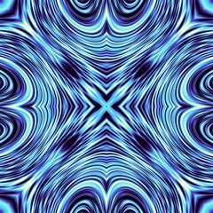 Poster Psychedelique Abstract round pattern