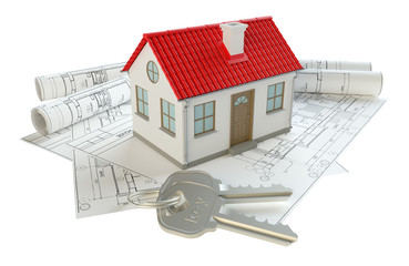 Construction drawings and small home