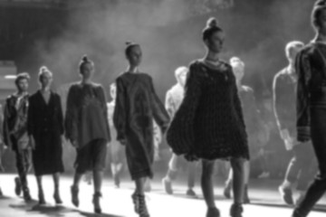 Fashion Show, Catwalk Runway Event blurred on purpose Wall mural