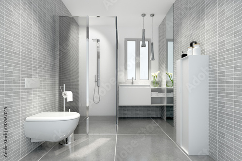 klein raffiniert modern bad badezimmer duschbad minibad stock photo and royalty free images on. Black Bedroom Furniture Sets. Home Design Ideas