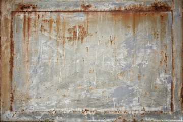 Old rusty sheet of iron close up abstract texture background