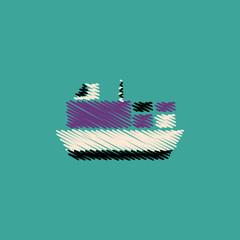 flat vector icon design collection ship in sea