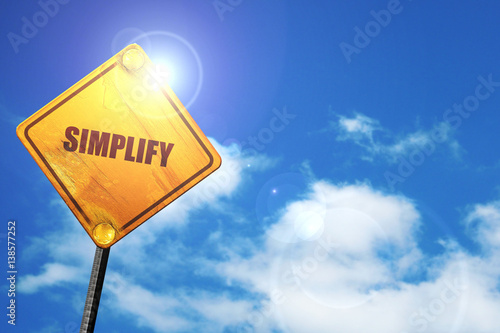 simplify, 3D rendering, traffic sign