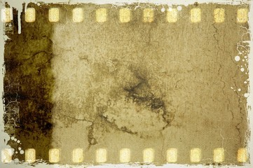 Grunge film strip frame with borders.