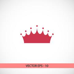 crown  icon, vector illustration. Flat design style