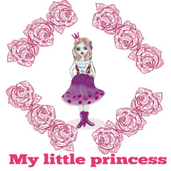 You are my little princess card COVER