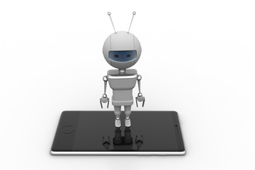 Robot with smart phone