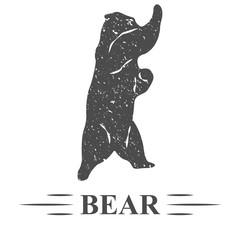 медведь здоровается, винтаж