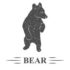 медведь отдыхает, винтаж