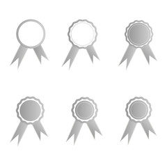 Silver medals illustration set