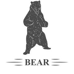 медведь стоит на задних лапах смотрит вниз, винтаж