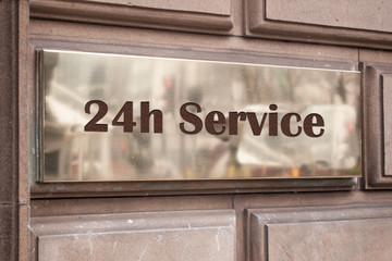 Schild 205 - 24h Service