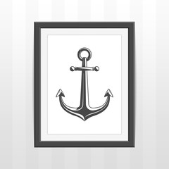Frame with ships anchor.