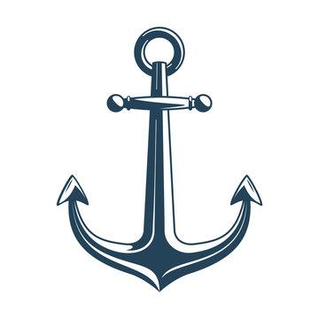 Nautical anchor vector.