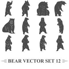 набор векторных медведей