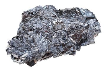 piece of hematite (iron ore) stone isolated