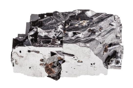 specimen of Galena rock isolated