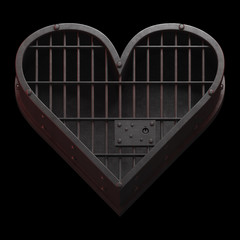 Jail cell heart.