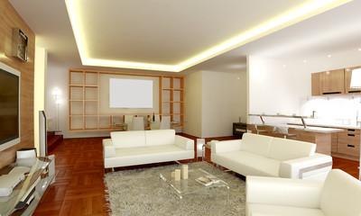 The interior design of living room