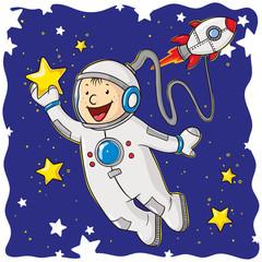 Kleiner Comic Astronaut
