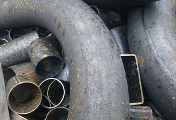 Abfälle von Stahlrohren