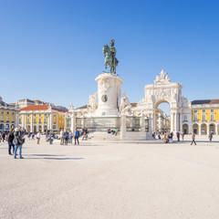 Platz des Handels in Lissabon, Portugal
