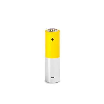 AA Battery Closeup on white Background