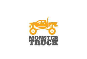 Monster truck Logo design vector template