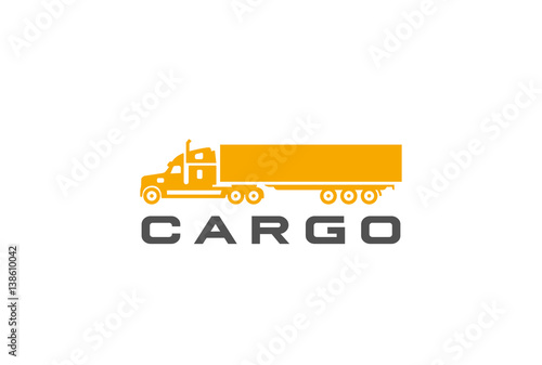 17d72c9ee0 Cargo Truck silhouette Logo design vector Delivery shipping icon ...