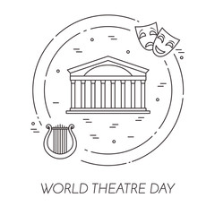 Theatre related banner for world theatre day