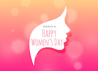 female face creative design for woman's day