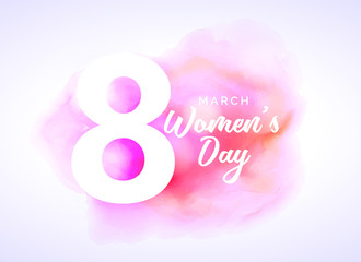 watercolor art for woman's day design