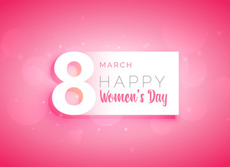pink woman's day greeting card design