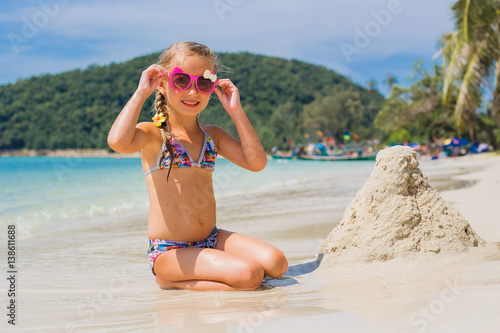 Quot Cute Little Girl In Sunglasses And A Swimsuit On The
