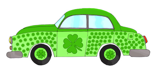 Saint Patricks car