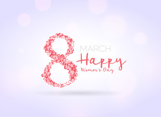 woman's day background with flower decoration